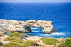 brzeg spotyka błękitnego morze Obrazy Royalty Free