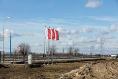 Brzegi blisko Krakowskiego, miał miejsce w Lipu 2016 masę z okazji Światowej młodości dokąd Fotografia Stock