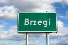 Brzegi - das Dorf findet Masse während WYD 2016 mit der Teilnahme des Papstes und der Pilger statt Lizenzfreie Stockbilder