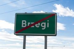 Brzegi - das Dorf findet Masse während WYD 2016 mit der Teilnahme des Papstes und der Pilger statt Lizenzfreie Stockfotografie