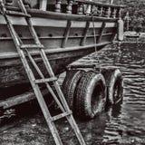 Brzegowa łódź Fotografia Stock