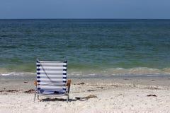 brzegowa krzesło zatoka Fotografia Royalty Free