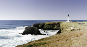 brzegowa latarnia morska Pacific Zdjęcie Royalty Free