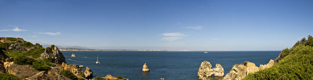 brzegowa panorama Portugal Zdjęcia Stock