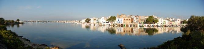 brzegowa panoramiczna wioska Zdjęcia Royalty Free