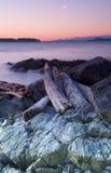 brzegowego wschód słońca zachodni zima Zdjęcia Stock