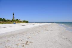 brzegowej wyspy piaskowaty sanibel Zdjęcie Royalty Free