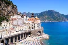brzegowi Amalfi widok Zdjęcie Stock