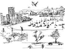 brzegowy Atlantic ocean royalty ilustracja