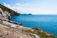 brzegowy błękit morze Fotografia Royalty Free