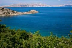 brzegowy Croatia wyspy rab skalisty Zdjęcie Royalty Free