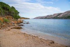 brzegowy Croatia wyspy rab skalisty Obraz Royalty Free