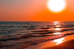 brzegowy czerwonego morza zmierzch Zdjęcia Stock