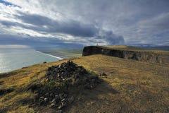 brzegowy dyrholaey Iceland południe widok obraz stock
