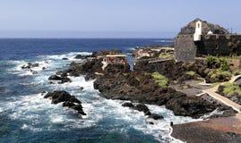 brzegowy Garachico Tenerife Obrazy Stock