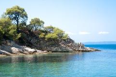 Brzegowy krajobraz w Greece zdjęcia royalty free