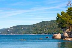brzegowy krajobrazowy śródziemnomorski sceniczny obraz royalty free