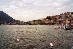 Brzegowy Lugano w Szwajcaria Obraz Royalty Free