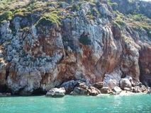 brzegowy morze śródziemnomorskie Zdjęcia Royalty Free