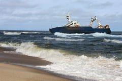 brzegowy Namibia shipwreck kościec Fotografia Stock