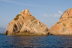 brzegowy śródziemnomorski skalisty Obraz Stock
