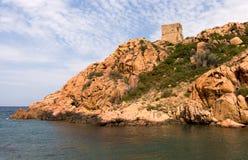 brzegowy śródziemnomorski skalisty Zdjęcia Royalty Free