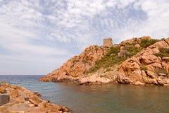 brzegowy śródziemnomorski skalisty Obraz Royalty Free