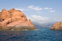 brzegowy śródziemnomorski skalisty Zdjęcie Stock