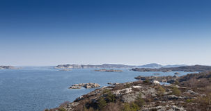 brzegowy sceniczny szwedzki widok Fotografia Royalty Free