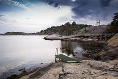 brzegowy sceniczny szwedzki widok Fotografia Stock