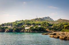 brzegowy skalisty morze fotografia royalty free