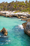 brzegowy skalisty tropikalny zdjęcie stock