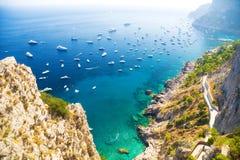 brzegowy włoski morze śródziemnomorskie Obrazy Stock