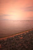 brzegowy zmierzch Fotografia Royalty Free