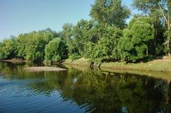 brzegu rzeki Zdjęcia Stock