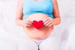 Brzemienność Ciężarny woman& x27; s brzuch zdrowe życie Zdjęcie Stock
