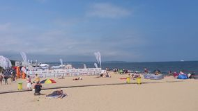 Brzezno sandy beach Royalty Free Stock Photos