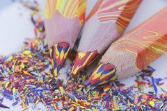 brzmienie Coloured ołówki Fotografia Stock