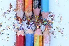 brzmienie Coloured ołówki Zdjęcia Stock