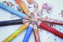 brzmienie Coloured ołówki Zdjęcie Stock