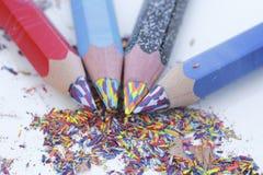 brzmienie Coloured ołówki Obrazy Stock