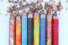 brzmienie Coloured ołówki Obraz Royalty Free