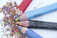 brzmienie Coloured ołówki Fotografia Royalty Free