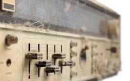 Brzmienie kontrola na panelu stary stereo odbiorca Obrazy Royalty Free