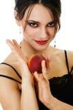 brzoskwini kobieta Zdjęcie Royalty Free