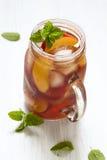Brzoskwini lodowa herbata Fotografia Royalty Free