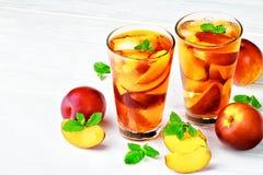 Brzoskwini lodowa herbata Obrazy Royalty Free