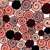 Brzoskwini menchii wzór z spiralami Zdjęcie Royalty Free