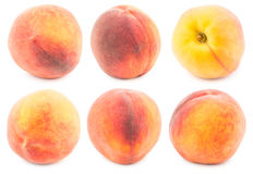 Brzoskwini owoc kolekci ścinku odosobniona ścieżka Obrazy Royalty Free
