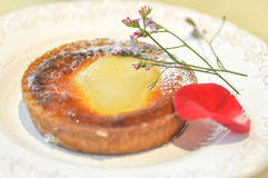 Brzoskwini tarta lub brzoskwinia kulebiak Obraz Royalty Free